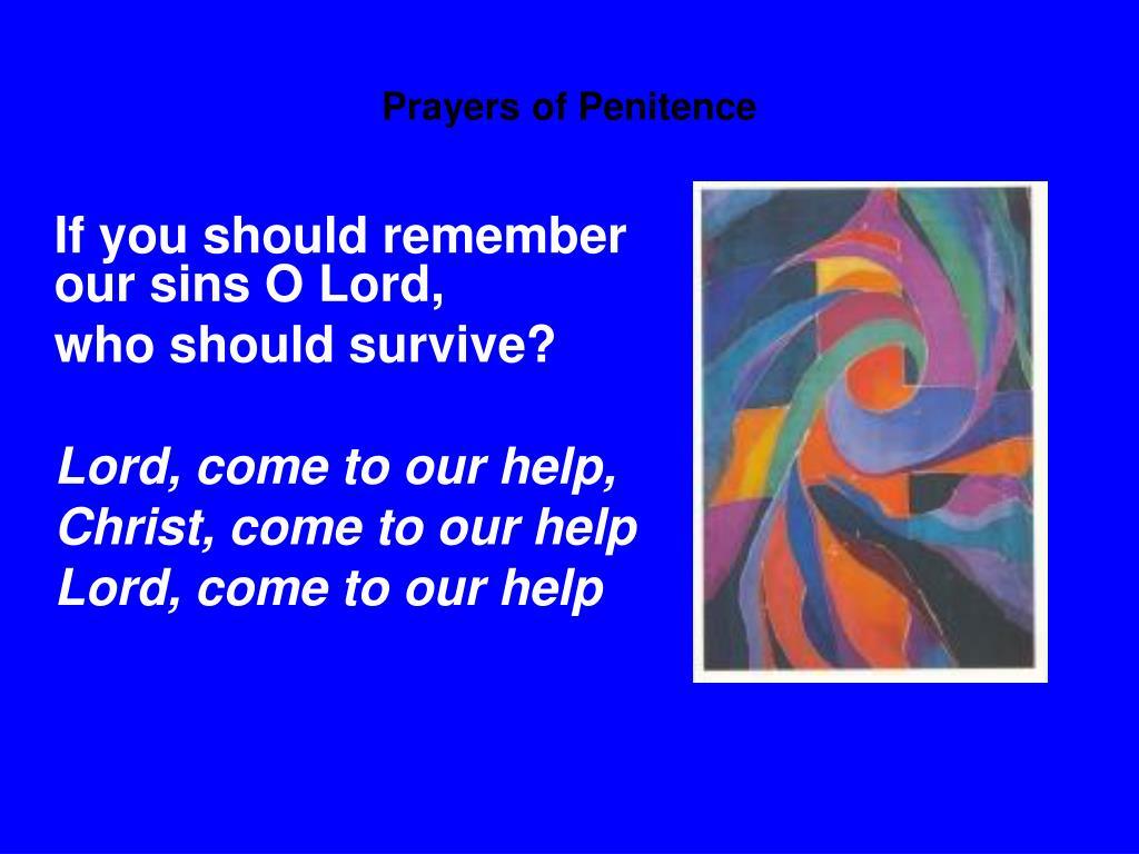 Prayers of Penitence