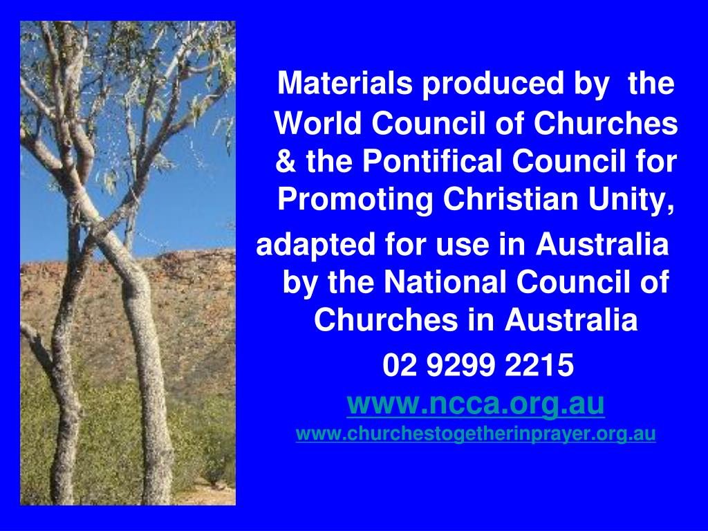 Materials produced by  the World Council of Churches