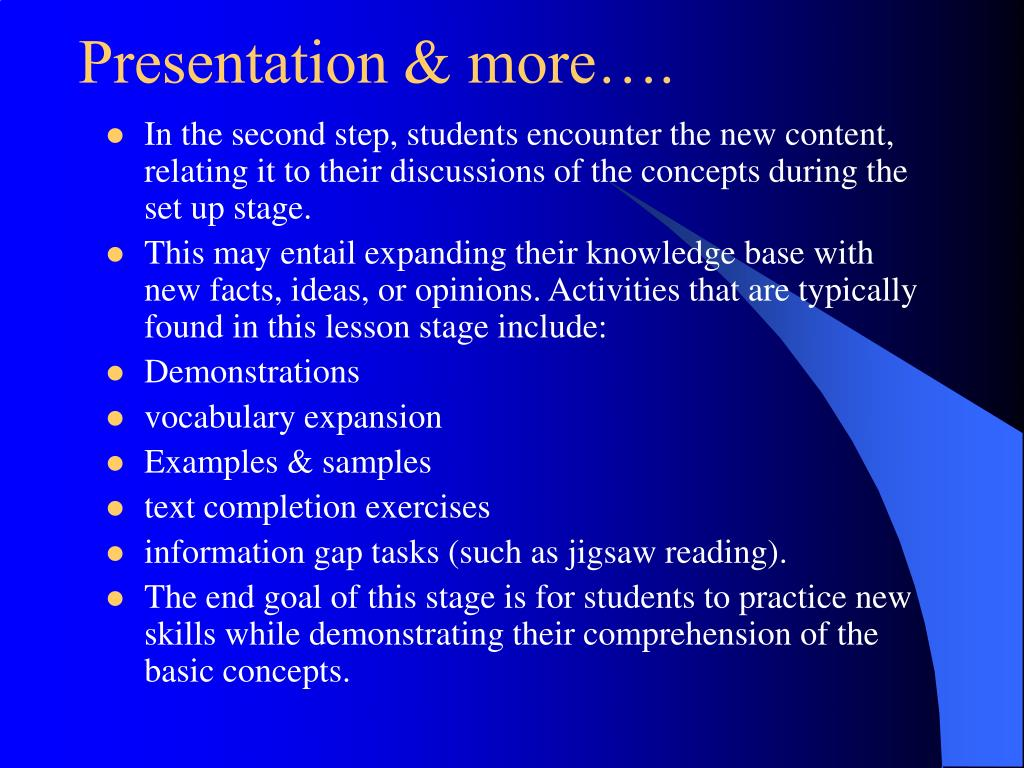 Presentation & more….