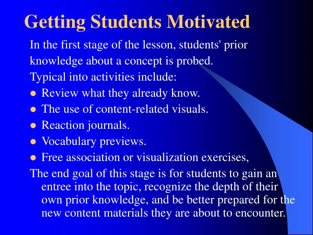 Getting Students Motivated