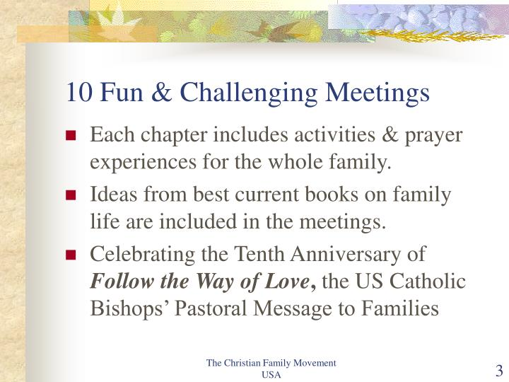 10 fun challenging meetings