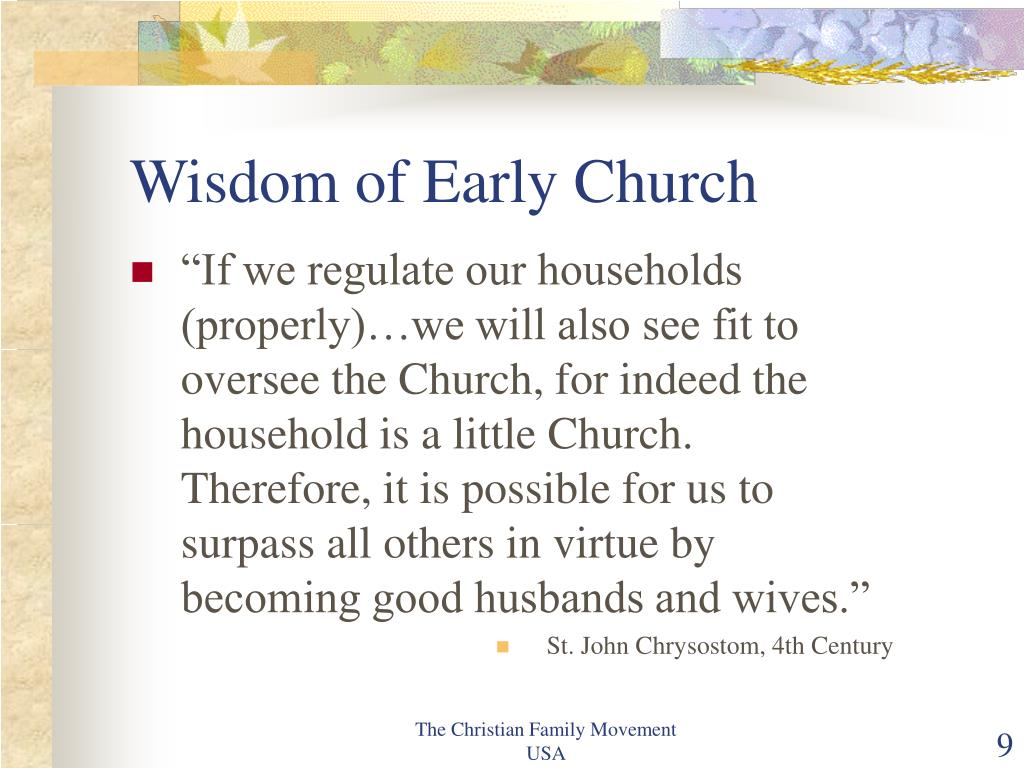 Wisdom of Early Church