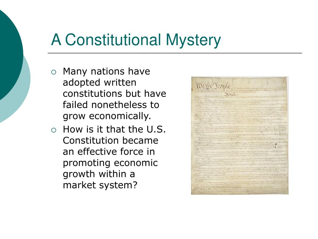 A Constitutional Mystery