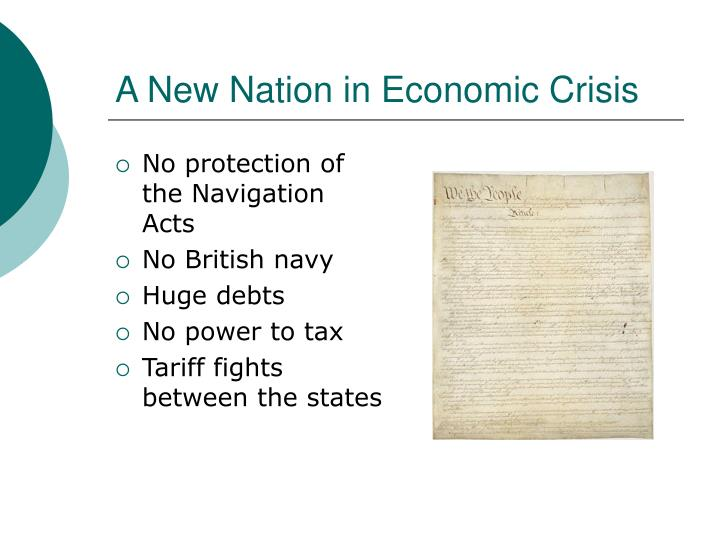 A new nation in economic crisis