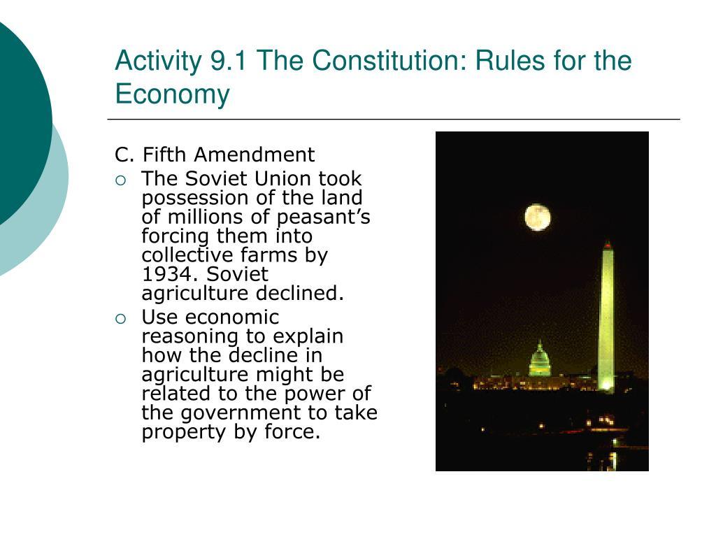 C. Fifth Amendment