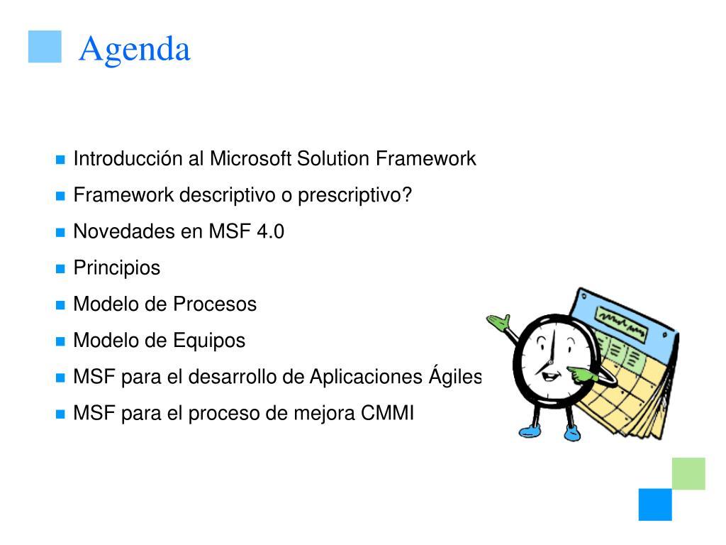 Introducción al Microsoft Solution Framework