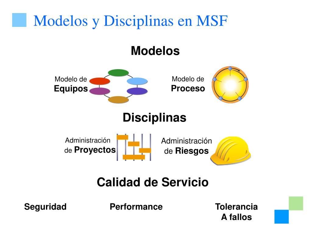 Modelos y Disciplinas en MSF