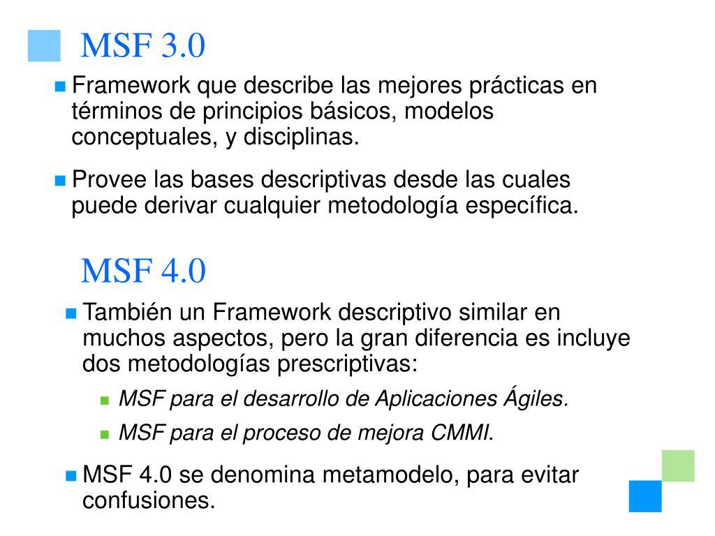 MSF 3.0