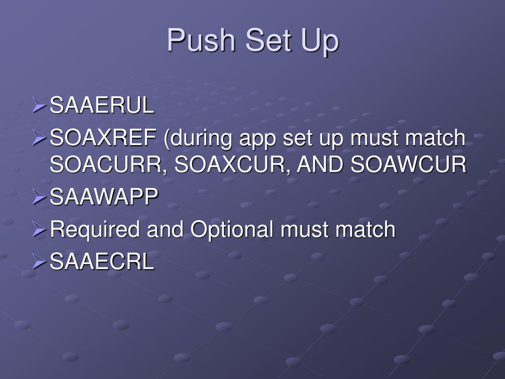 Push Set Up