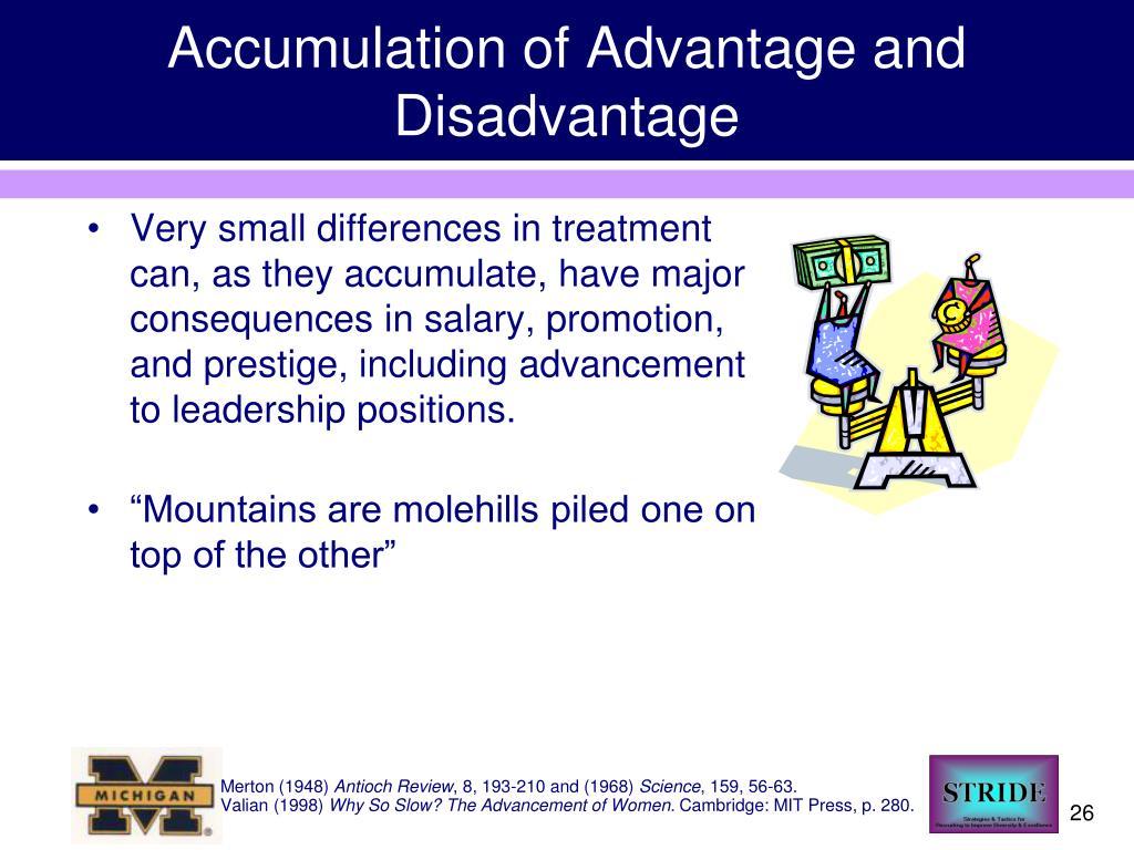 Accumulation of Advantage and Disadvantage
