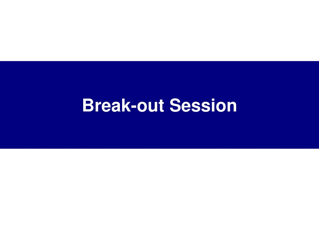 Break-out Session