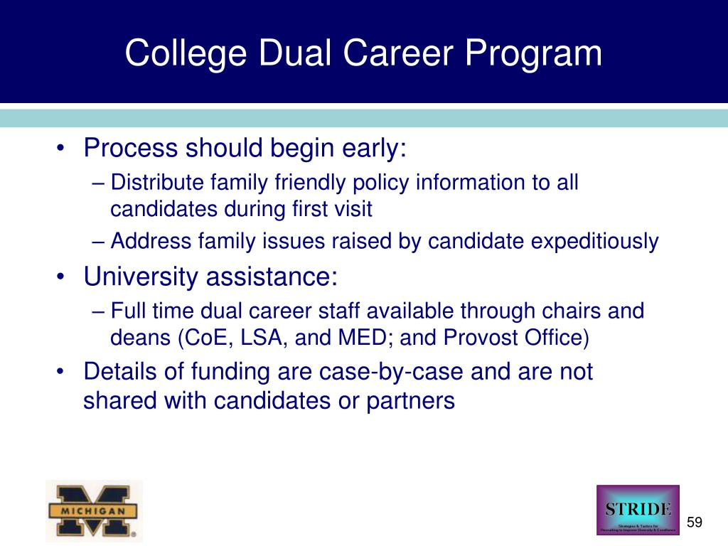 College Dual Career Program