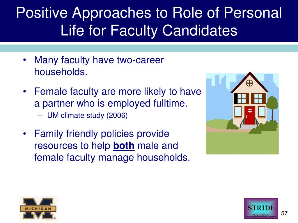 Positive Approaches to Role of Personal Life for Faculty Candidates