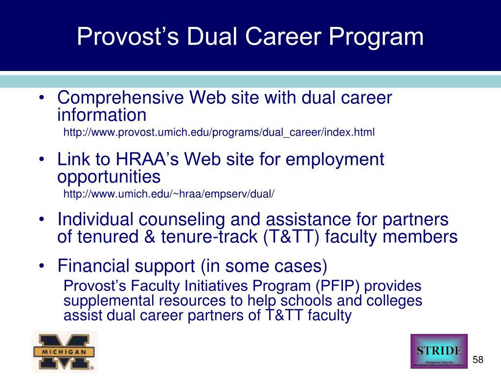 Provost's Dual Career Program