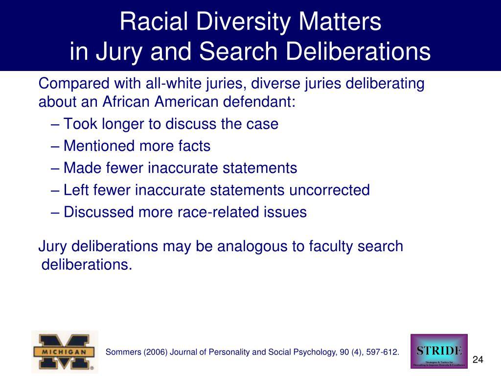 Racial Diversity Matters