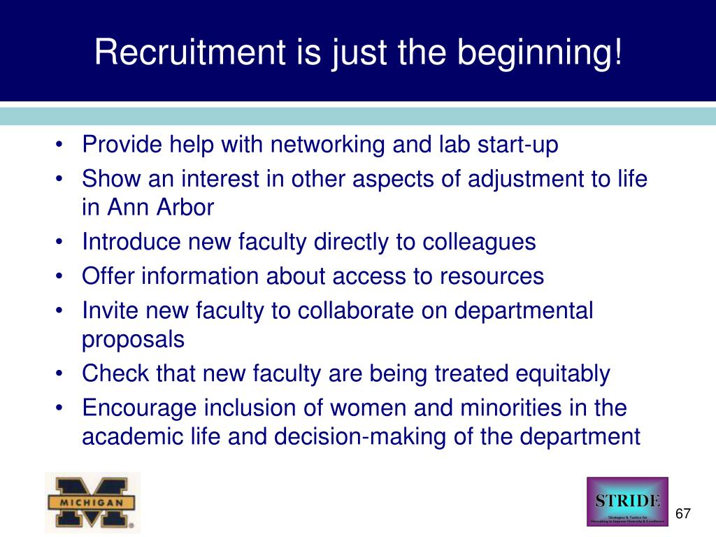 Recruitment is just the beginning!