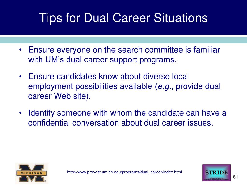 Tips for Dual Career Situations