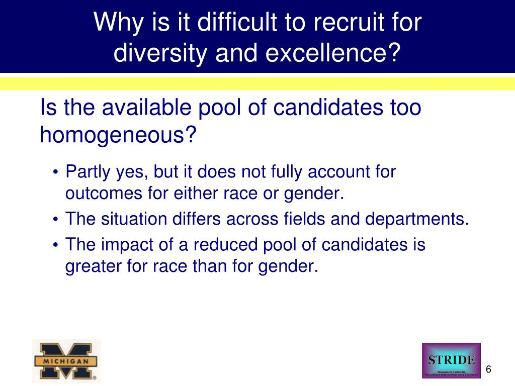 Why is it difficult to recruit for