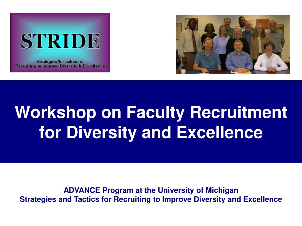 Workshop on Faculty Recruitment for Diversity and Excellence