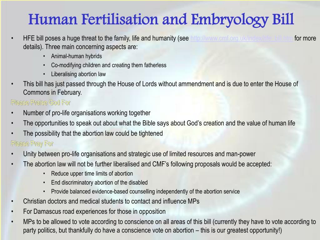 Human Fertilisation and Embryology Bill