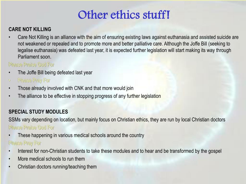 Other ethics stuff!