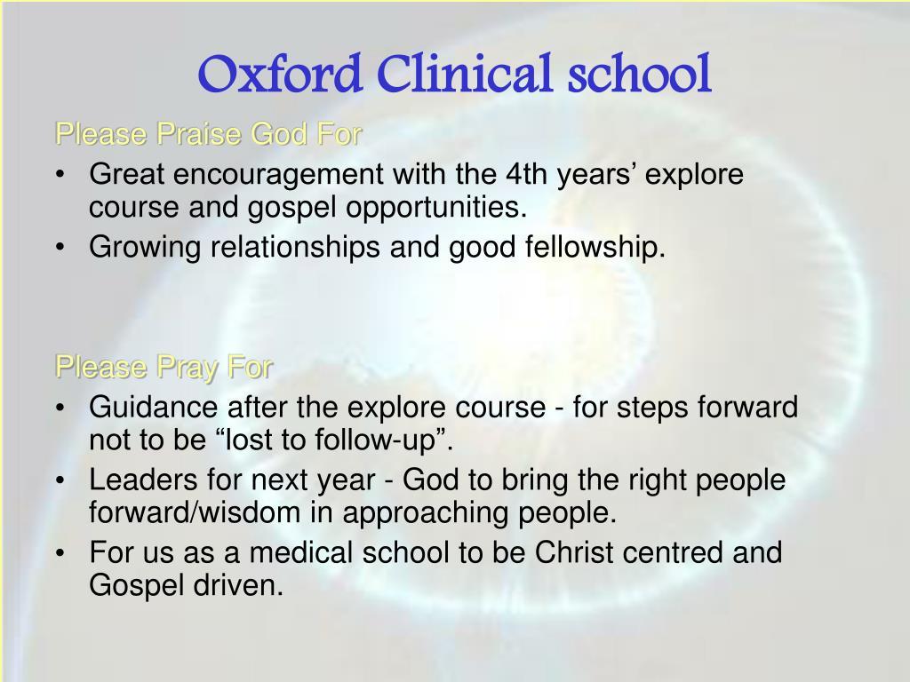 Oxford Clinical school