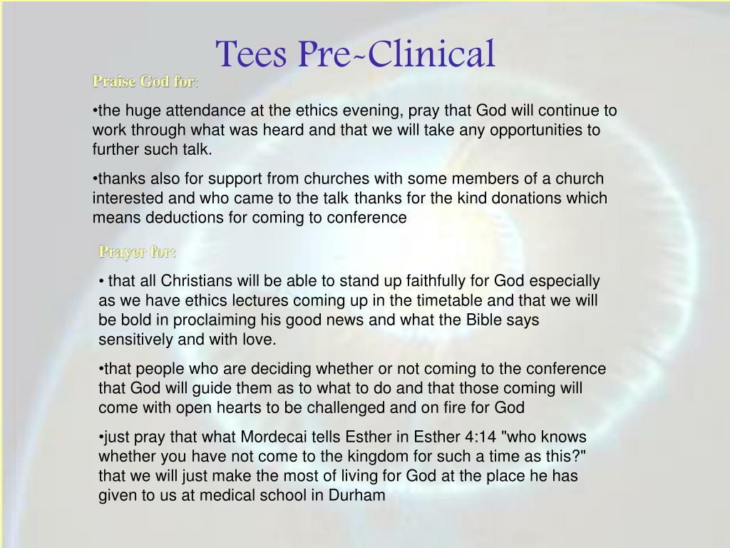 Tees Pre-Clinical