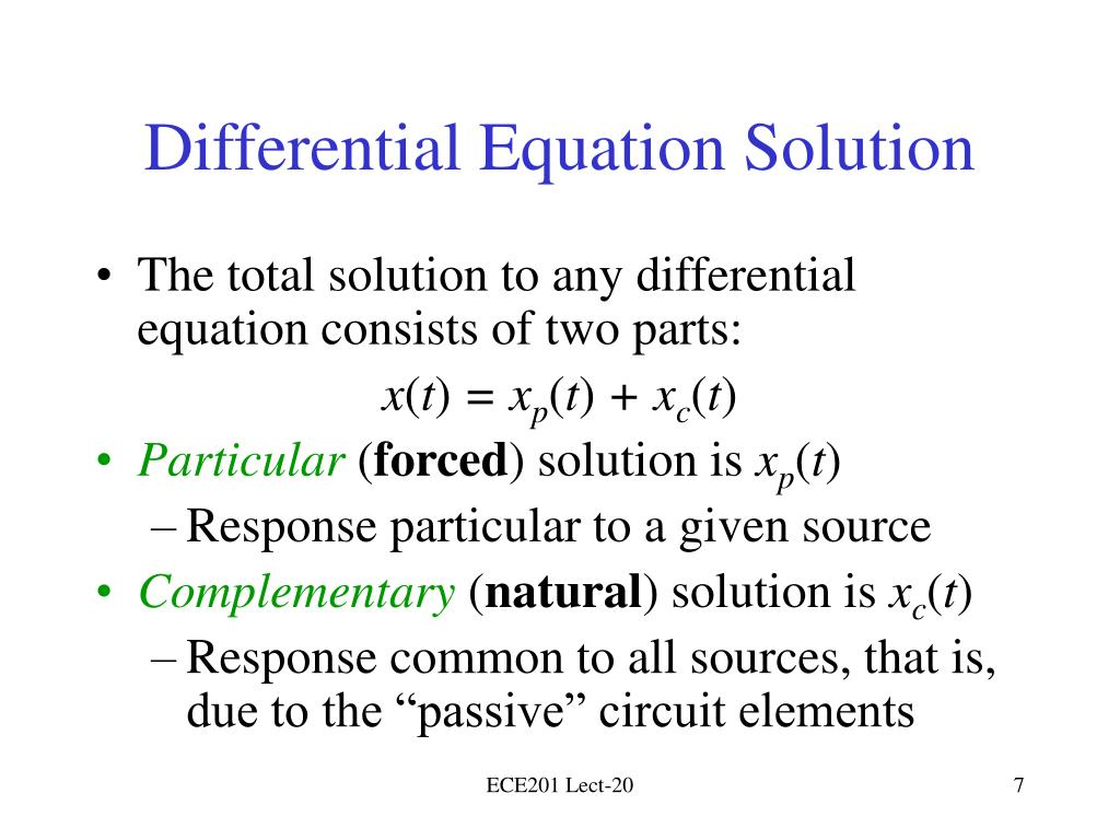 Differential Equation Solution