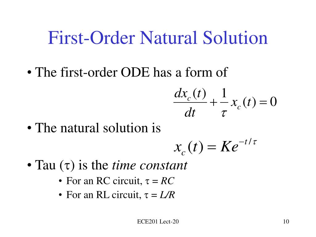 First-Order Natural Solution