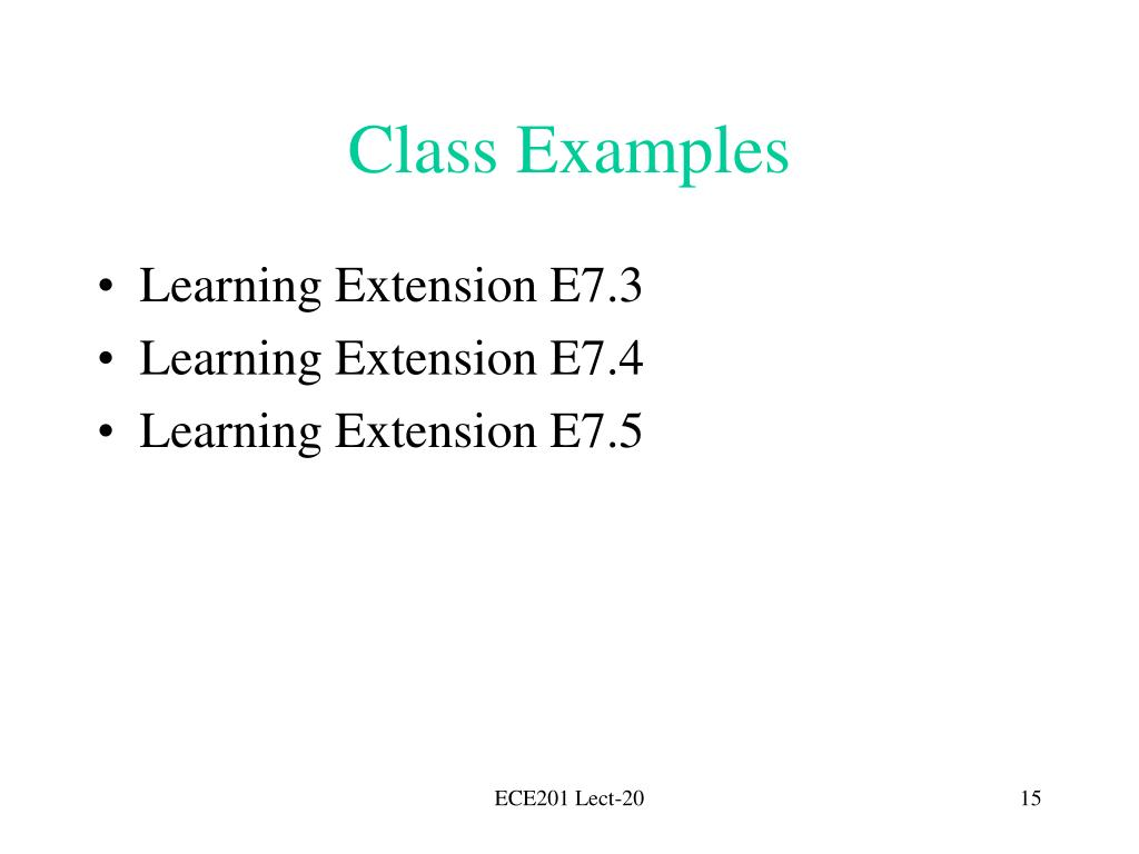 Class Examples