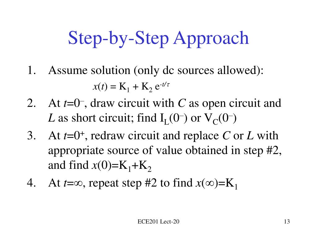 Step-by-Step Approach