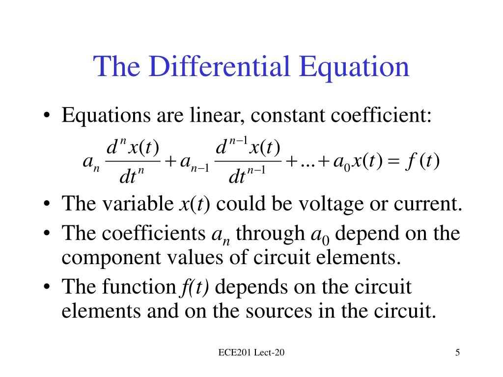 The Differential Equation
