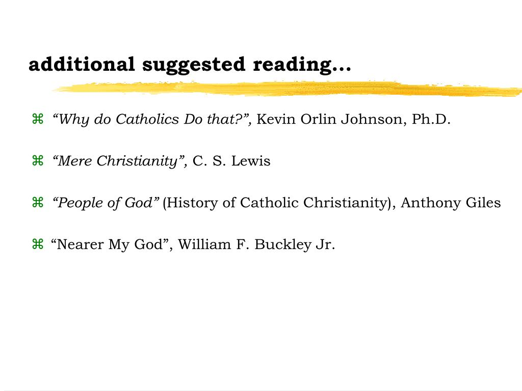 additional suggested reading...