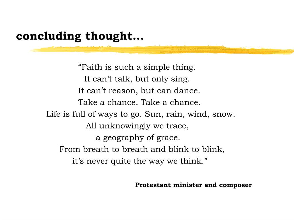 concluding thought...