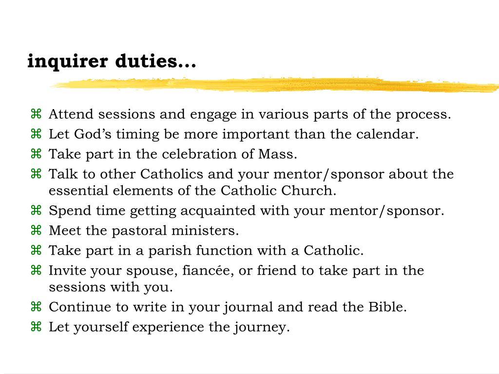 inquirer duties...