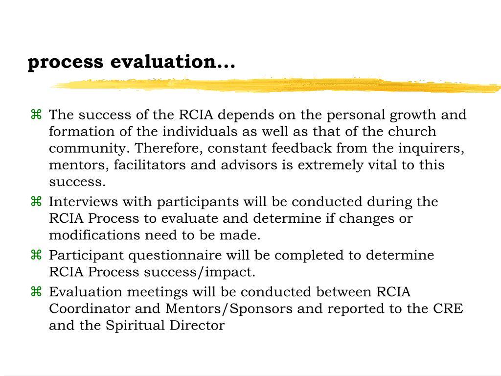 process evaluation...