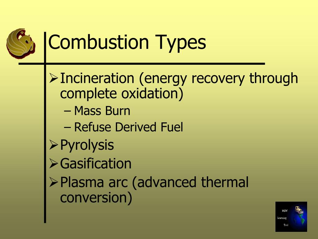 Combustion Types