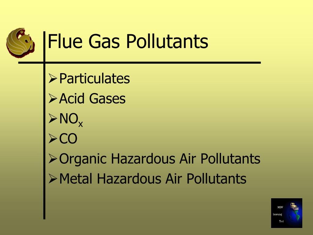 Flue Gas Pollutants