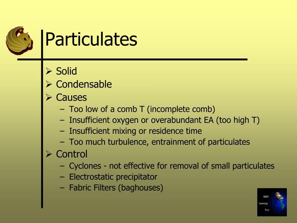 Particulates