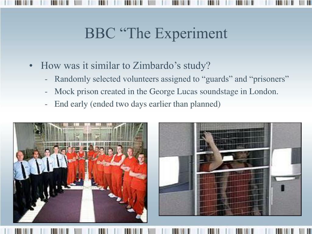 "BBC ""The Experiment"