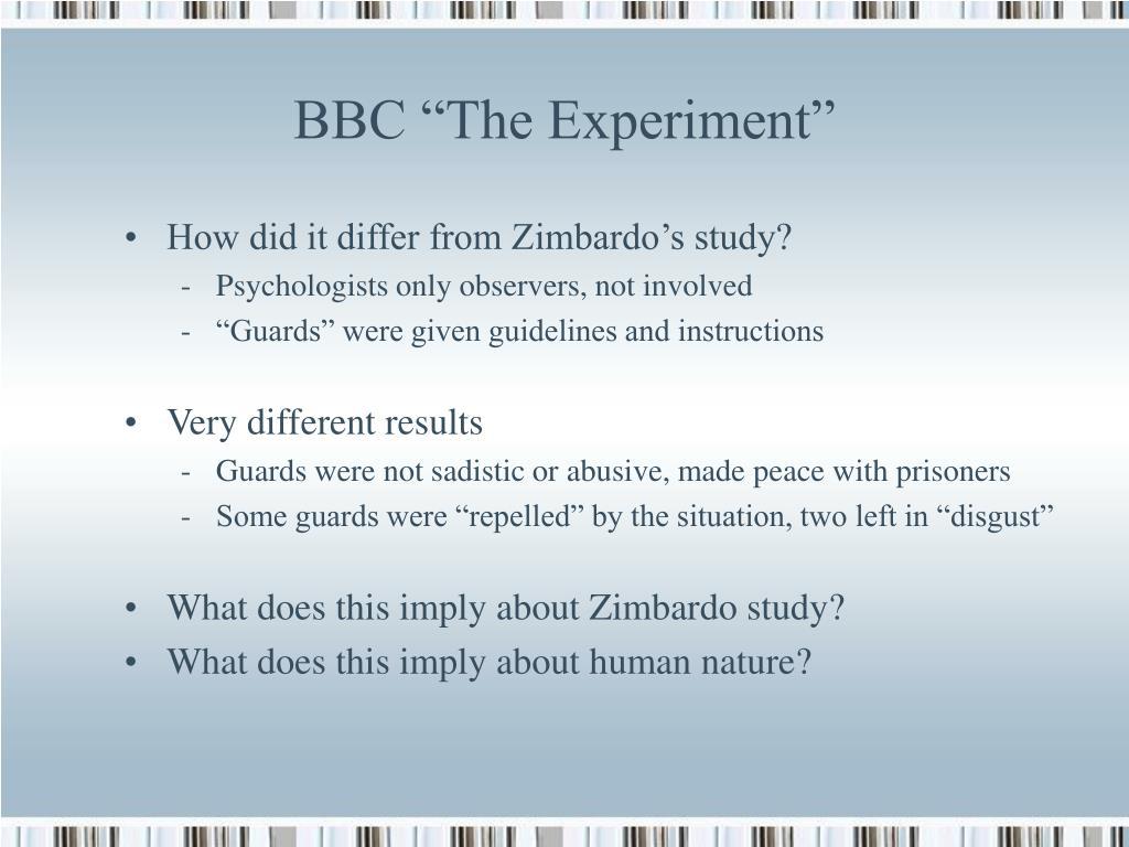 "BBC ""The Experiment"""