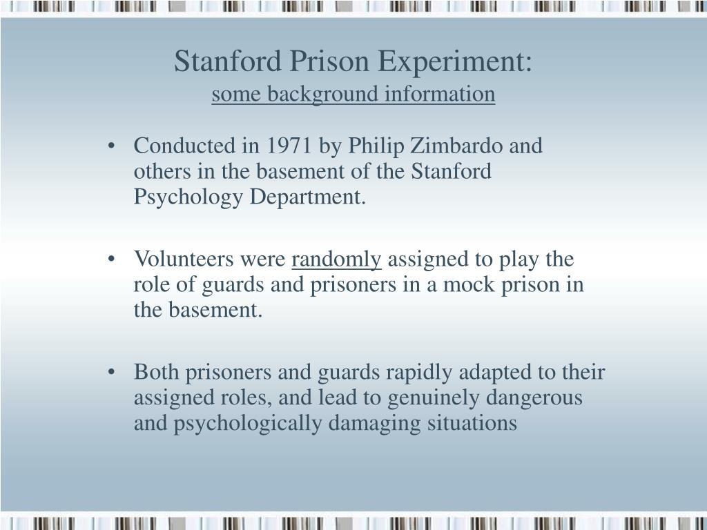 Stanford Prison Experiment: