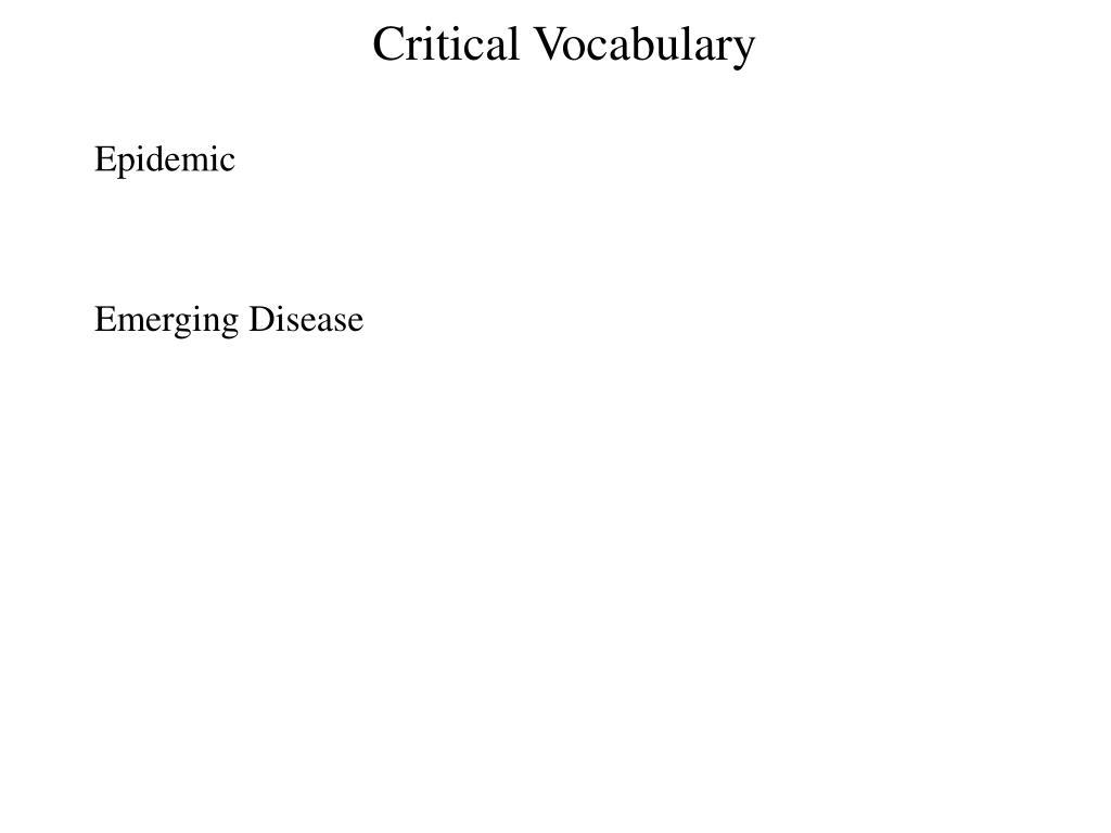 Critical Vocabulary