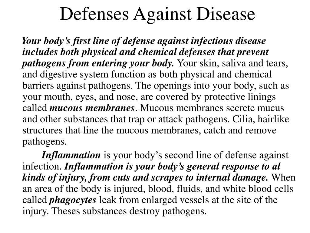 Defenses Against Disease