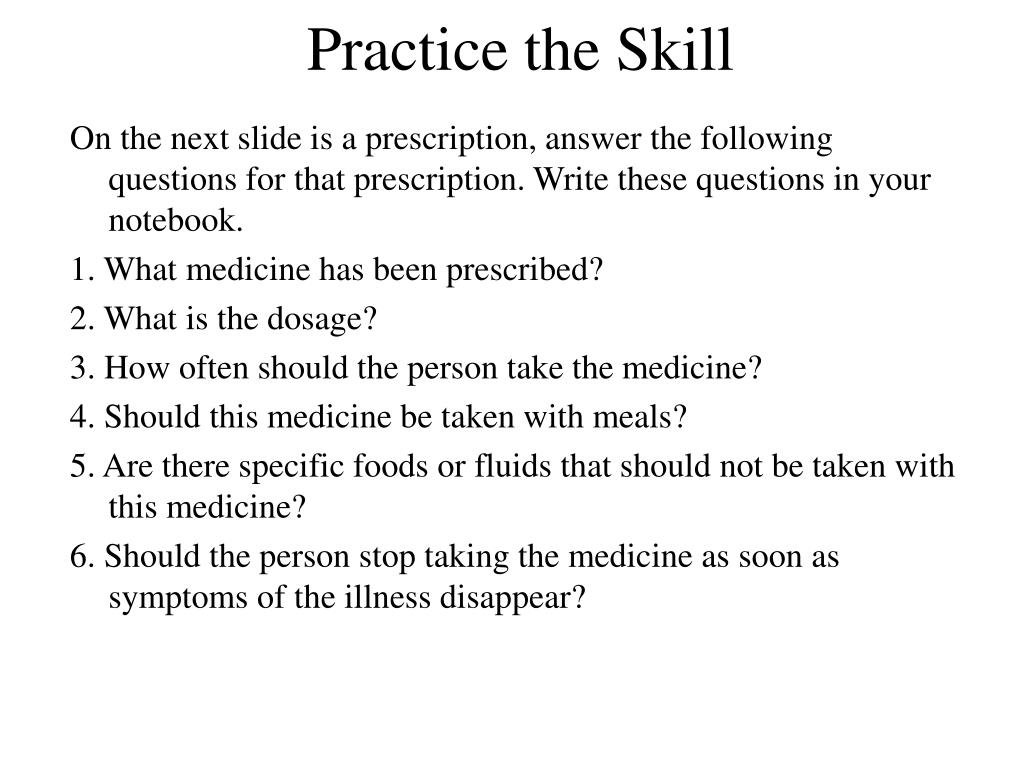 Practice the Skill