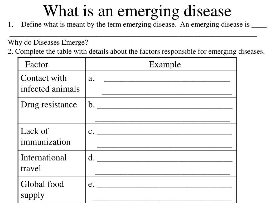 What is an emerging disease