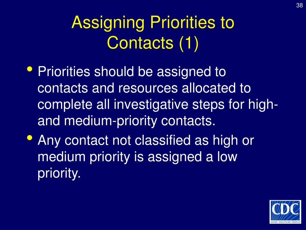 Assigning Priorities to