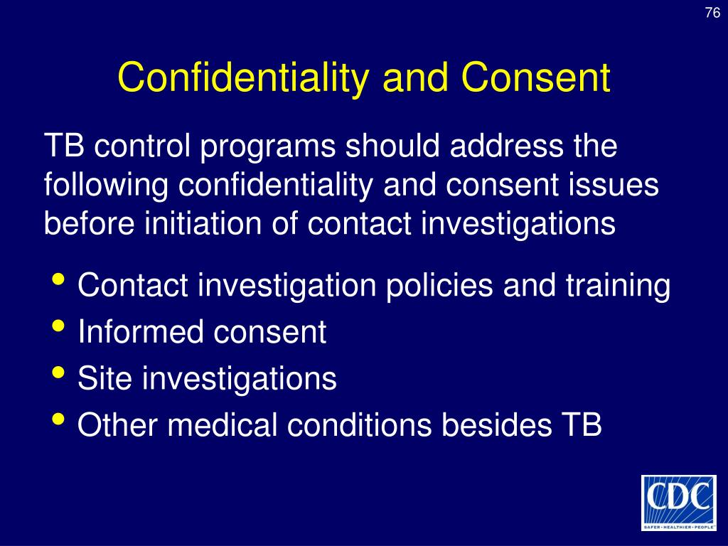 Confidentiality and Consent