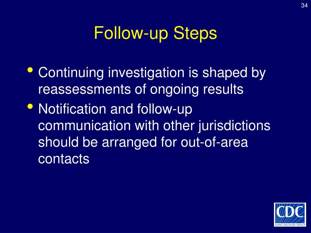 Follow-up Steps