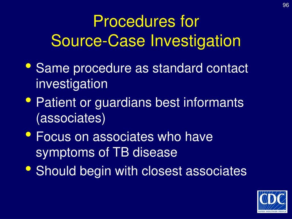 Procedures for